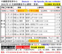 深圳德语专业培训课程长期招生