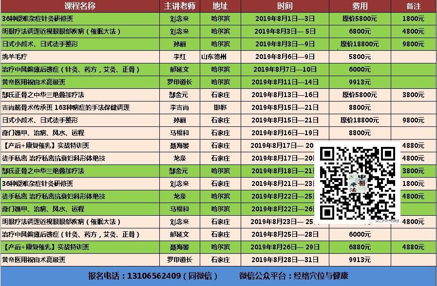 【8月21日特价1800元】刘念来36种疑难杂症针灸研修班