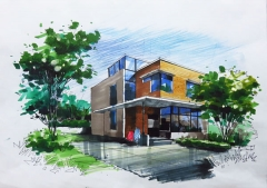 成人美术培训-建筑环艺手绘班-轮流式一对一授课-名玛雅画室