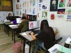 """广州动漫插画""""名玛雅美术教育""""插画设计就业班,推荐就业哦"""