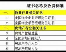 北京物业经理证在哪办理用考试吗